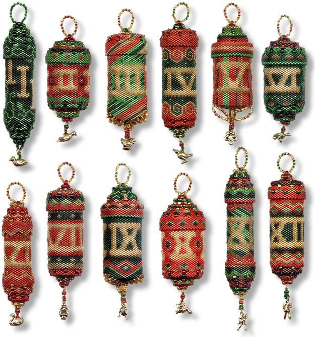 ibeadcom  bead kits  12 Days of Christmas  Ornaments  Peyote